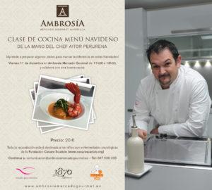 Clase de cocina Aitor Perurena